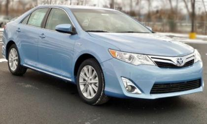 2012 TOYOTA CAMRY HYBRID XLE - LIGHT BLUE ON GRAY