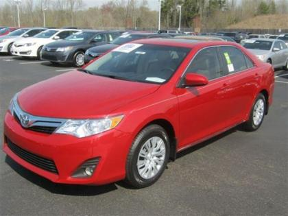 2012 TOYOTA CAMRY LE - RED ON BEIGE 1