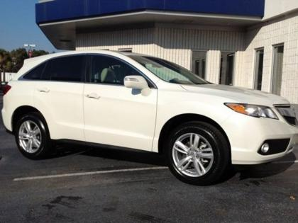 2013 ACURA RDX TECH PACKAGE - WHITE ON BEIGE