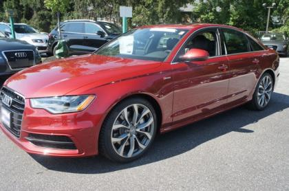 2013 AUDI A6 3.0T PREMIUM - RED ON BLACK