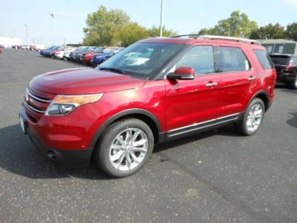 2013 FORD EXPLORER LIMITED - RED ON BLACK