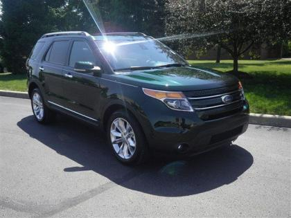 2013 FORD EXPLORER LIMITED - GREEN ON BLACK
