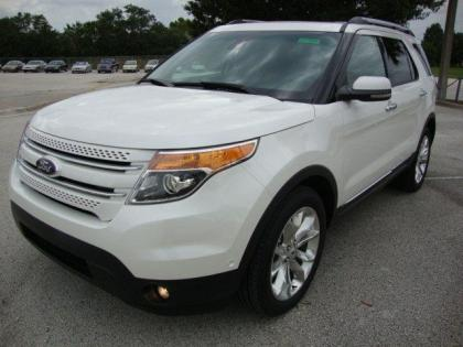 2013 FORD EXPLORER LIMITED - WHITE ON BLACK-BROWN
