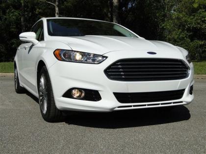Export New 2013 Ford Fusion Titanium White On Black