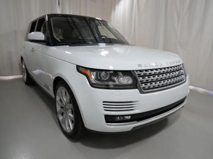 2013 LAND ROVER RANGE ROVER SUPERCHARGED - WHITE ON BEIGE 1