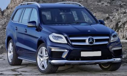 2013 MERCEDES BENZ GL350 BLUETEC - BLUE ON WHITE