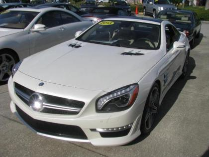 2013 MERCEDES BENZ SL63 SL CLASS - WHITE ON BEIGE