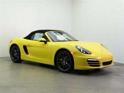 2013 PORSCHE BOXSTER BASE - YELLOW ON BLACK