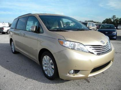 2013 TOYOTA SIENNA LIMITED - BRONZE ON BEIGE
