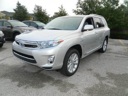 2013 TOYOTA HIGHLANDER HYBRID LIMITED - SILVER ON GRAY