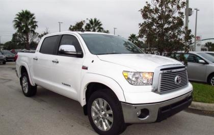 2013 TOYOTA TUNDRA PLATINUM - WHITE ON GRAY