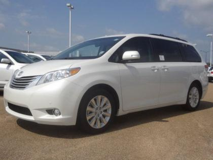 2013 TOYOTA SIENNA LIMITED - WHITE ON BEIGE