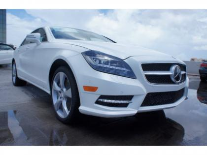 2014 MERCEDES BENZ CLS550 BASE - WHITE ON BROWN