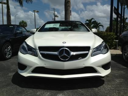 2014 MERCEDES BENZ E350 CONVERTIBLE - WHITE ON BEIGE