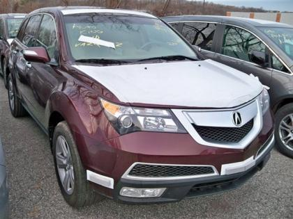 2013 ACURA MDX TECHNOLOGY PACKAGE - RED ON BEIGE