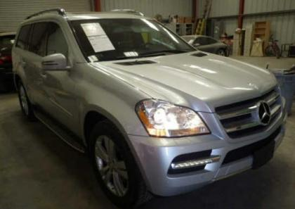 2012 MERCEDES BENZ GL450 4MATIC - SILVER ON BLACK 1