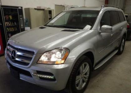 2012 MERCEDES BENZ GL450 4MATIC - SILVER ON BLACK 2