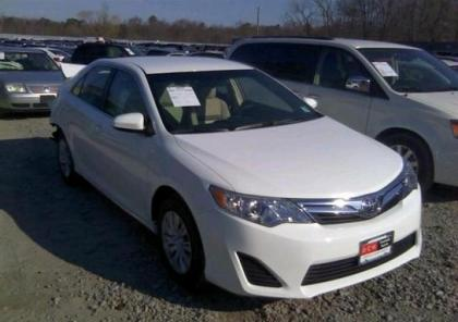 2013 TOYOTA CAMRY LE - WHITE ON BEIGE 1