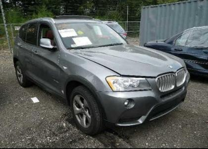 2011 BMW X3 XDRIVE28I - GRAY ON RED