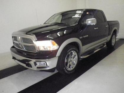 2010 DODGE RAM 1500 LARAMIE - BURGUNDY ON GRAY