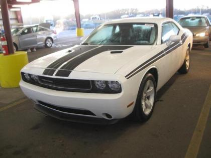 2012 DODGE CHALLENGER SXT - WHITE ON BLACK