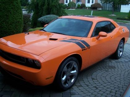 2012 DODGE CHALLENGER R/T - ORANGE ON BLACK
