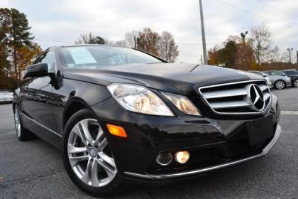 2010 MERCEDES BENZ E350 COUPE - BLACK ON BEIGE