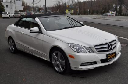 2013 MERCEDES BENZ E350 CONVERTIBLE - WHITE ON BEIGE 1