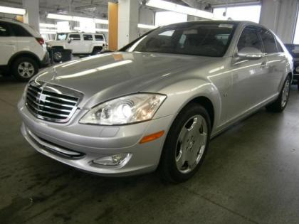 2007 MERCEDES BENZ S600 BASE - SILVER ON BLACK