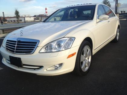 2007 MERCEDES BENZ S550 4MATIC - WHITE ON BLACK